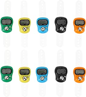 FAVOMOTO 10pcs Electronic Finger Counters 5 Digit Lcd Manual Digital Display Tally Counters Counting Handheld Random Color