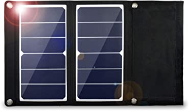 EREMOKI Solar Panel Charger,14W Solar Portable Charger,Our Ultralight 15oz Solar Panels are Built with Sunpower Flexible Solar Panels and USB Output.This Solar Phone Charger is Perfect for Hikers