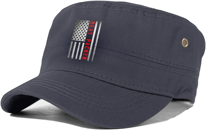 Meat Popular products Branded goods Packer Adjustable Mens Caps Fl Military Hat Cadet Comfy