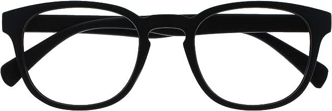 Opulize Pop Nero Occhiali Da Distanza Short Vistaed Miopia Retrò Giro Uomo Donna Cerniere Molla M2-1 -1,50