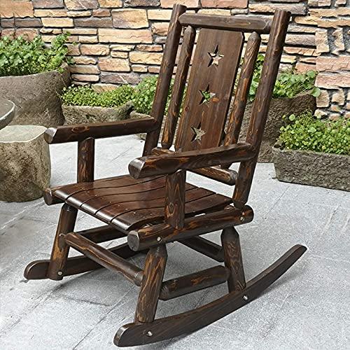 DGDF - Sedia a dondolo per esterni, sedia a dondolo, in legno, stile antico americano, stile country, per adulti