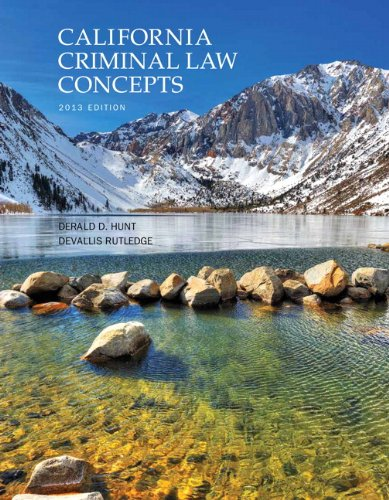 California Criminal Law Concepts Package Consultant