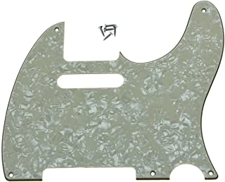 KAISH 5 Hole Vintage Tele Guitar Pickguard Scratch Plate fits USA/Mexican Fender Telecaster Aged Pearl