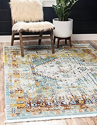 Unique Loom Estrella Collection Modern Abstract Multi Area Rug