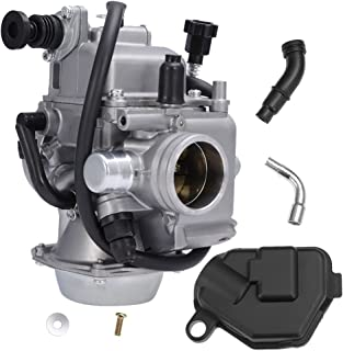 Fourtrax 300 Carburetor for Honda 300 FourTrax TRX300 2x4 FourTrax300 TRX300FW 4x4 1988-2000 with Black Throttle Base Cover & Screw