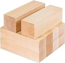TooTaci Juego de 10 piezas de bloques de tilo tallado de madera, bloques de madera sin terminar para principiantes de madera para tallar hobby, apto para niños o adultos, principiantes a expertos