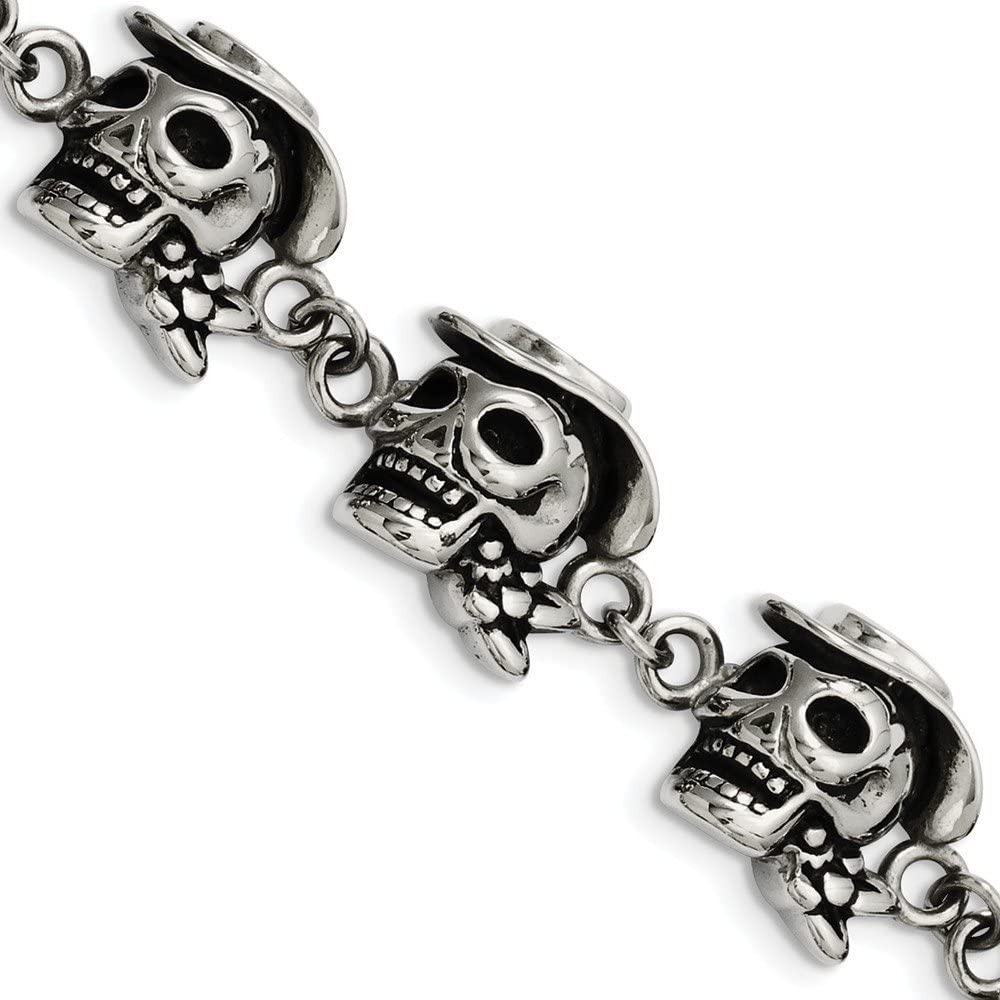 FB Jewels Solid Stainless Steel Antiqued Brace 8.5In Max mart 77% OFF Hat Pirates