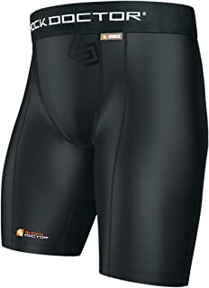 Shock Doctor Athletic Supporter w/Cup Pocket, Compression Shorts Underwear with Pocket for Athletic Cup, Youth & Adult
