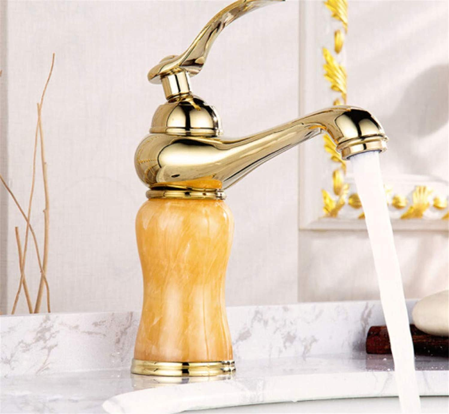 redOOY Bathroom Sink Taps Copper Retro Faucet Hot And Cold Bathroom Cabinet Basin Faucet Wash Basin Wash Basin Sink Sink Antique Faucet gold