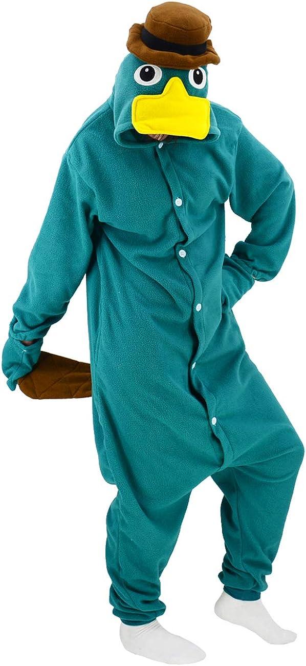 Adult Platypus Onesie Pajamas Animal Cosplay Super beauty product restock quality top! Sales results No. 1 Homewear Sleepwear
