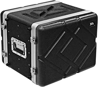 Seismic Audio - SALWR8M - Lightweight 8 Space Mid-Size ABS Rack Case - 8U PA DJ Medium Depth Amp Effects Rack Case
