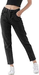 Pantalones vaqueros clásicos para mujer con bolsillos
