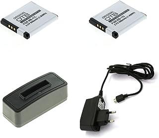 bg-akku24 Lot de 2 batteries, chargeur et bloc d'alimentation pour Canon Powershot A2300, A2400 is, A2500, A2600, A3400 i...