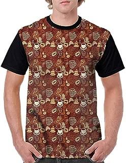BlountDecor Loose T Shirt,Croissant and Doughnut Cake Fashion Personality Customization