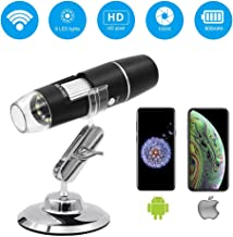 Wireless Digital Microscope,Leanking 0X-1000X Zoom Pocket Size Handheld Microscope for iPhone Android, iPad