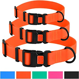 CollarDirect Adjustable Dog Collar Colorful Waterproof Pet Collars Small Medium Large Dogs Puppy Pink Black Blue Mint Green Orange