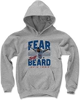 Justin Turner Los Angeles Baseball Kids Hoodie - Justin Turner Fear The Beard