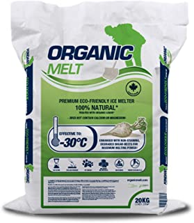Organic Melt Premium Granular Ice Melt. Eco Friendly, Pet Friendly, Driveway and Sidewalk Safe- 20kg Bag (44 lbs)