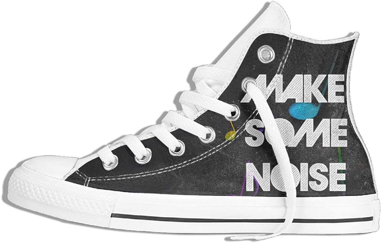Efbj Make Some Noise Unisex Leisure High Top Gym shoes Trainers Sneakers for Men and Women