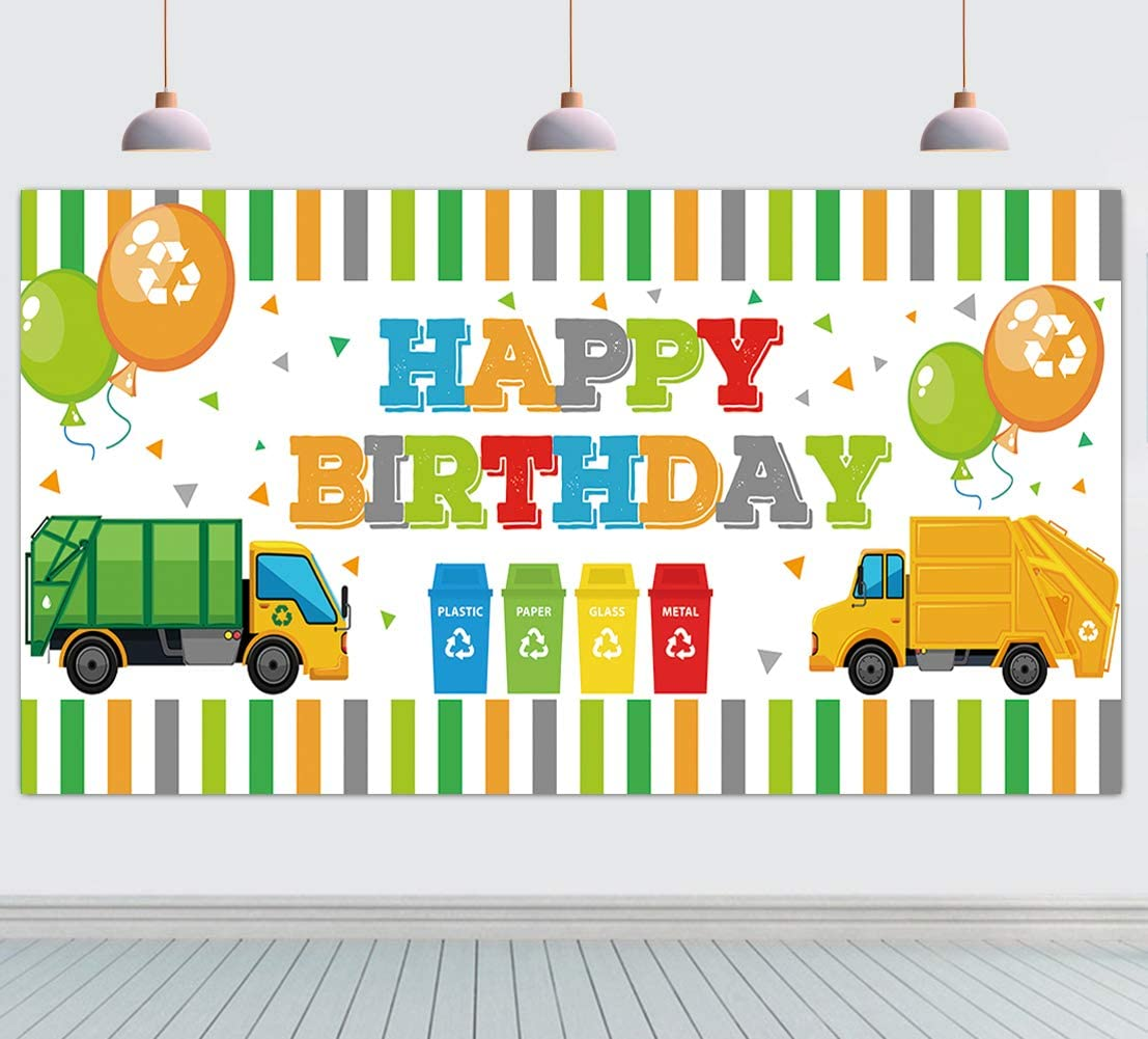 Large Garbage Truck Party Max 49% OFF Supplies Huge NEW before selling Birthday