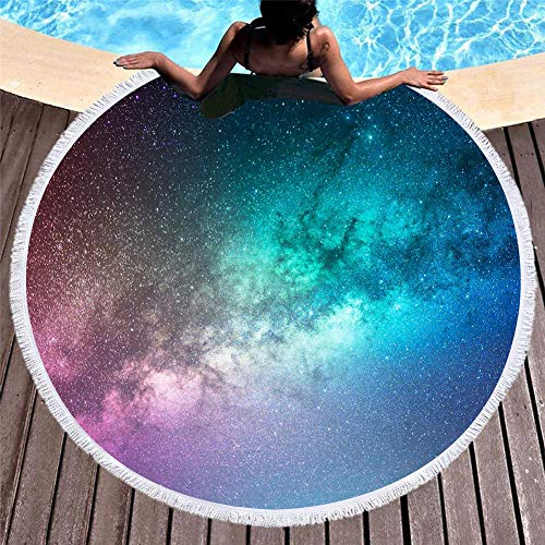 MHCYKJ Pañuelo Redondo Fino Sra. Toalla de Playa Playa Viaje Salvaje Protector Solar Chal Bufanda Shaw Bufanda (Algodón) -150cm