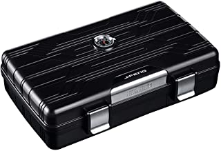 LBLMSB Cigar Humidor, Carrying Case, Travel Seal Waterproof Moisture Cabinet, Cigar Case, Black, Silver, Red (Color : Black)