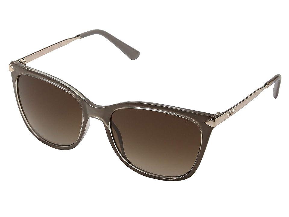 GUESS GU7483 (Shiny Beige/Gradient Brown) Fashion Sunglasses