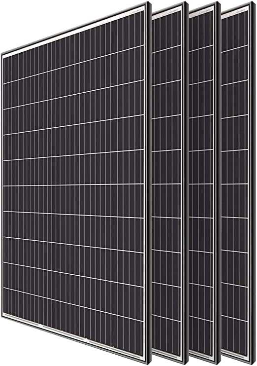 Renogy 4pcs 320 Watt Monocrystalline Solar Panel System Kit Off Grid for  Shed Farm, Home, Residential, Commercial House, 320W, 4 Pieces : Garden &  Outdoor - Amazon.com