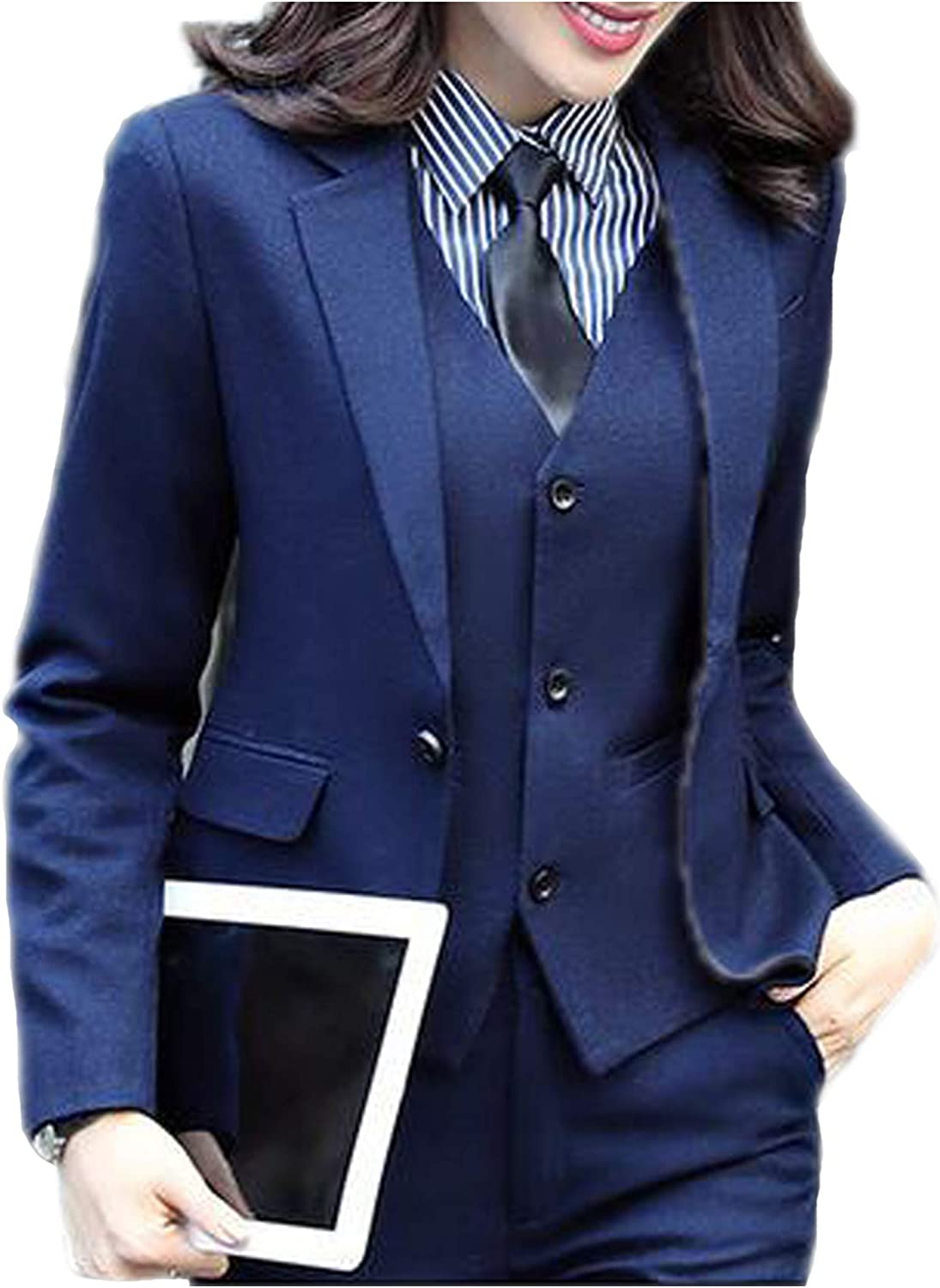 JYDress Women's 3 Piece Elegant Formal Business Lady Office Suit Set Work Wear