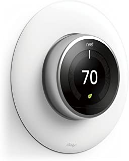 elago Wall Plate Cover for Nest Learning Thermostat 3rd, 2nd, 1st generation (Matte White) - Luxurious Design, Easy Installation, Anti-Discoloration Coated, Soft Finish, Durable Material
