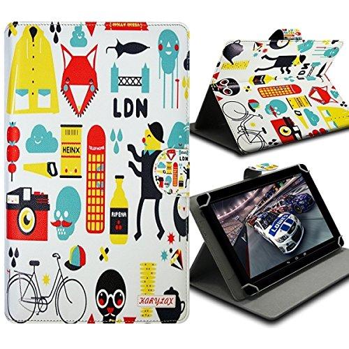 Seluxion-Funda universal con tapa y soporte, diseño de ZA04 para tablet Samsung Galaxy Tab 3 de 8 ', Galaxy Tab, 4,0, 3 g, Tab 3 Lite 7'