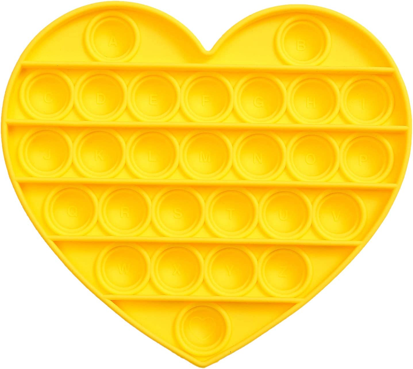 Squeeze Sensory Toy B, Yellow Aphieha Push pop Bubble Sensory Fidget Toy,Autism Special Needs Stress Reliever Silicone Stress Reliever Toy Anxiety Relief Toys for Kids Adults