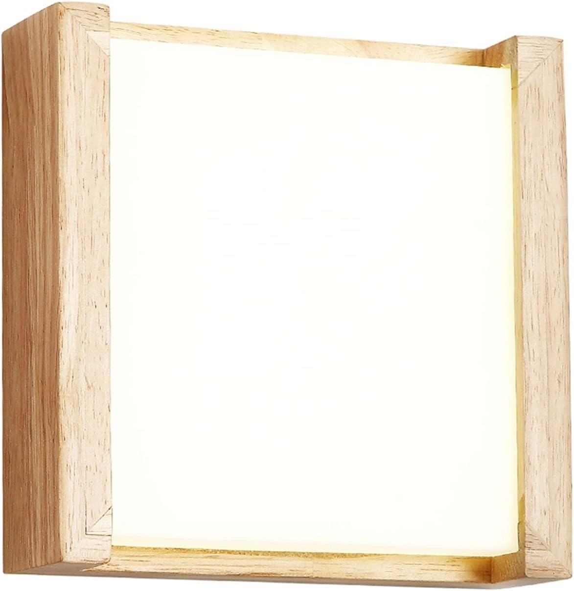 1 0W LED Lámpara de pared Lampada Dormitorio al lado de la pared de la pared Inicio Decoración de interior Iluminación Corredor de montaje de madera Lámpara de montaje Aplique Light Light Lighting Fix