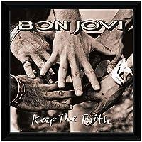 BON JOVI ボン・ジョヴィ - Keep The Faith (アルバム・シリーズ額) / インテリア額 【公式/オフィシャル】