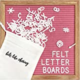 Felt Letter Board, 10x10in Changeable Letter Board with Letters White...