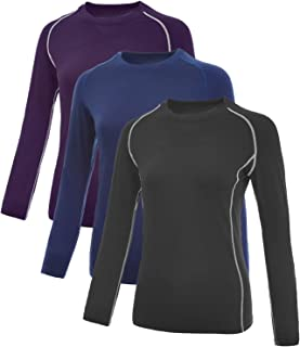 Vogyal Women's Compression Shirts Dry Fit Long Sleeve Workout T-Shirt Running Top