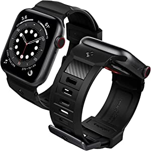 Spigen Rugged Band Designed for Apple Watch Band 40mm/38mm Series 6/SE/5/4/3/2/1 - Matte Black