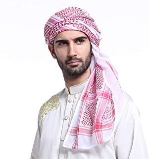 Arab Keffiyeh Adult Men's Turban Thick Muslim Hijab Shemagh Polyester Middle East Arafat Scarf Tactical Desert
