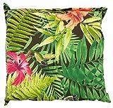 Hockerauflage Sitzpolster Gartenhockerauflage   50 x 50 cm   Mehrfarbig   Baumwolle   Polyester