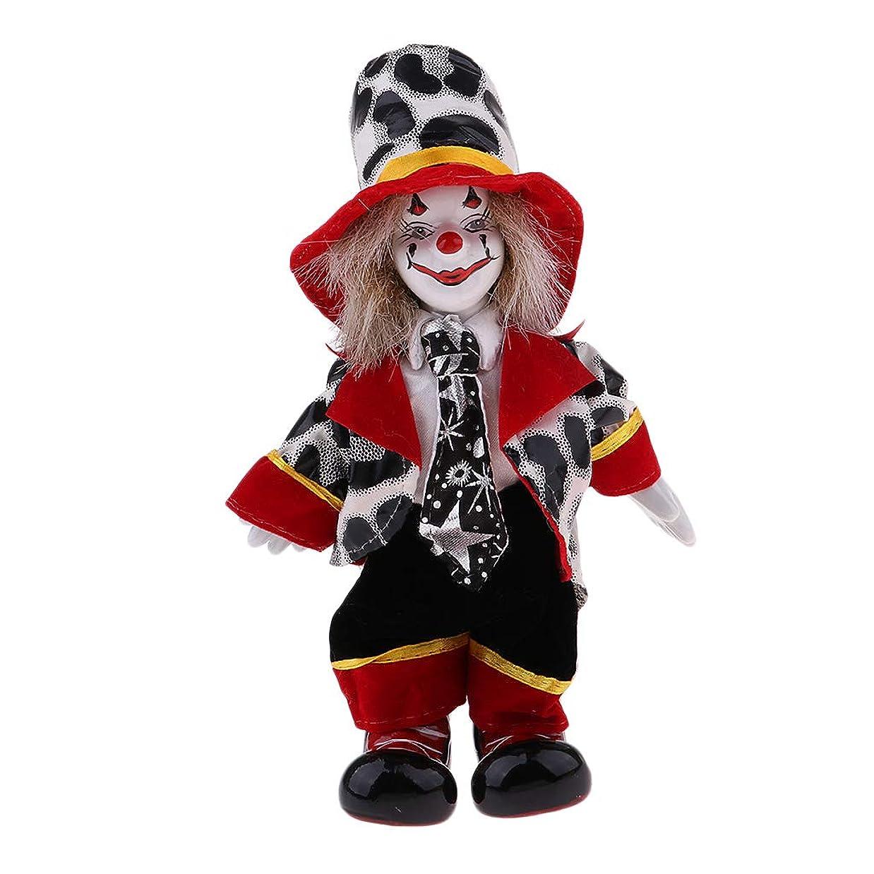 タイマー待って北へ子供 誕生日プレゼント 磁器ドール  ピエロの人形  ハロウィーン クリスマス インテリア飾り 4色 - #3