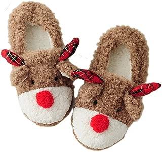 Women's Christmas Rudolph Reindeer Bedroom Slippers