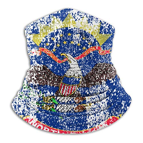 shenguang Retro Bandera de Dakota del Norte Unisex Microfibra Cuello Calentador Cuello Polaina Mascarilla Bandana