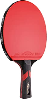 Professional Table Tennis Racket Paddle Wood/Carbon Fiber Blade Flared Handle 7 Star Ping Pong Racket Long Handle Blade with Carry case
