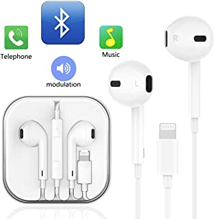 iPhone イヤホン 新品iPhone 7/7P/8/8P/X/XS/XR/XS Max など用イヤホン (白) イヤホン リモコン付き マイク付き ステレオイヤフォン ヘッドホン高音質 通話可能