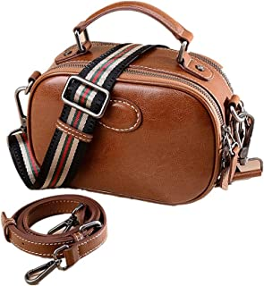 Sturdy Crossbody Purse Cross Body Handbag Brown Small Handbag Women Vintage Shoulder Handbag Large Capacity (Color : Brown, Size : 21x15x9cm)