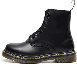 Dr. Martin unisex boots Front double zipper boots two wearing locomotive trend boots black wild leather short boots high-top thick bottom leather boots simple tooling ankle boots