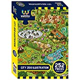 EASY TO MAKE: This jigsaw puzzle has been designed with alphabets 'A', 'B' printed on the back for different regions making it easier to solve for the first timers PERFECT SIZE: The size of the completed Webby City Zoo Illustration Jigsaw Puzzle is 4...