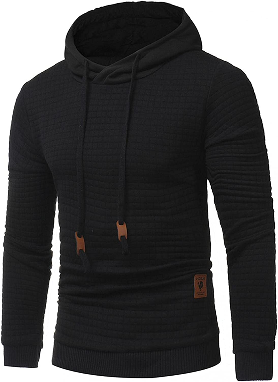Hoodies for Men Fashion Plaid Quick Dry Pullover Hoodies Tops Winter Long Sleeve Breathable Sweatshirts for Men