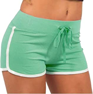 zhaoabao-AU Women's Summer Drawstring Elastic Waist Running Workout Shorts