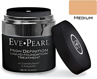 EVE PEARL HD Liquid Foundation Treatment Every Day Long Lasting Make Up Hydrates Aging Skin Fresh Natural Matte Cover Minerals Makeup (Medium)